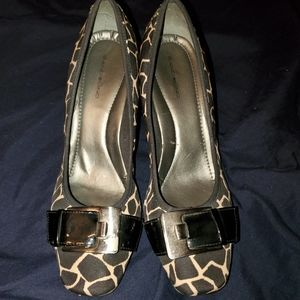 Bandolino animal print wedges